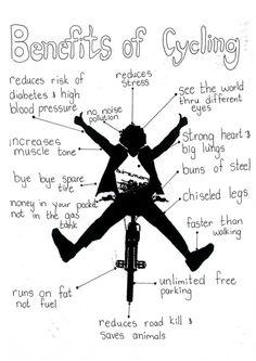 Benefits of cycling. #ridingrocks