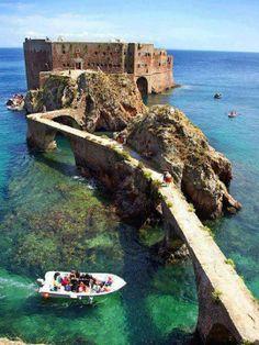 THERE: To cross the bridge Fort de Saint John the Baptist Berlenga Island- Portugal