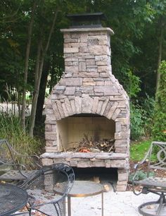 Outdoor Fireplace Kits for the DIYer - Shine Your Light Build Outdoor Fireplace, Backyard Fireplace, Diy Fireplace, Outdoor Fireplaces, Outdoor Rooms, Outdoor Living, Outdoor Kitchens, Outdoor Furniture, Brick Built Bbq