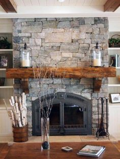 Hottest Photographs Farmhouse Fireplace living room Ideas After deciding you'd. Hottest Photographs Farmhouse Fireplace living room Ideas After deciding you'd like to own a ranch or farm, saving the m. Rock Fireplaces, Rustic Fireplaces, Stacked Stone Fireplaces, Style At Home, Farmhouse Fireplace Screens, Fireplace Modern, Farmhouse Windows, Fireplace Design, Fireplace Ideas