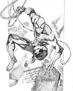 Spidey sketch by Philip Tan