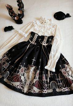 Grove Deer [The Lost Continent - Pardminenan] High Waist Lolita Skirt Snap