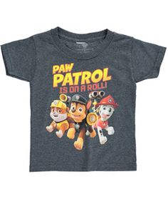 """Paw Patrol Little Boys' Toddler """"Paw Patrol on a Roll"""" T-Shirt (Sizes 2T – 4T) $3.99 It's the Paw Patrol to the rescue on this soft jersey T-shirt. Details include a tagless ribbed neckline and Paw Patrol graphic."""