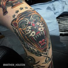"illustratedgentleman: ""Healed knee on Hannah. They're grrrreat! (at Seven Doors Tattoo) "" Navy Tattoos, Elbow Tattoos, Knee Tattoo, Dog Tattoos, Tatoos, Great Tattoos, Trendy Tattoos, Unique Tattoos, Tattoos For Guys"