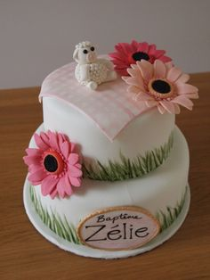 Gâteau Bâpteme Printanier