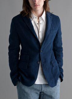 Lewis Jacket- Washed Indigo  price  Originally $595.00 down to $238.00