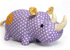 Adorable rhino toy.