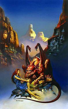 Ilustración de Boris Vallejo | 1991 | Fantasy art. #Illustration @deFharo