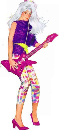 ♥ Jem and the Holograms, Rio, Jerrica, Kimber, Aja, Shana, Raya, Pizzaz, Stormer, Roxy, Clash, Dance, Jetta ♥Roxy with Guitar in hand pose.