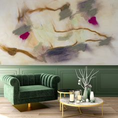 A peel + stick, removable mural collection by Zoe Bios is here. Each ombre and abstract design brings a truly organic application that can be the backdrop for any dramatic interior. Decor, Wall Murals, Wallpaper, Mural, Interior, Removable Wall Murals, Wall Coverings, Home Decor, Mural Wallpaper