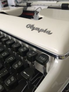 My 'best' typewriter.  A 1960 Olympia Sm3 Deluxe in the not so often seen colour. It's beautiful and works perfectly.