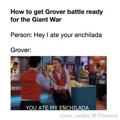 How to get Grover battle ready for the Giant War | Enchiladas | Percy Jackson | Heroes of Olympus | demigods | satyrs