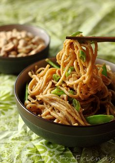 Will Cook For Friends: Spicy Peanut Soba Noodles - It's What's For Dinner (Again)