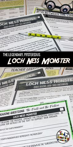 This October Reading Passage on the Loch Ness Monster is such to be a hit in your class!  In addition to the Halloween reading passage, you will also receive an accompanying set of differentiated text dependent questions that will drive students back to t