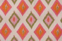 For Little girls room.  Premier Prints Carnival Printed Cotton Drapery Fabric in Gumdrop Natural, FabricGuru.com