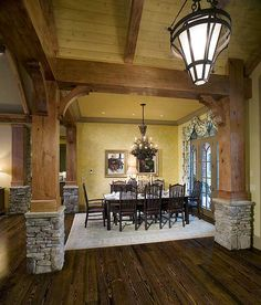 craftsman ranch style home.use white beams instead Rustic House Plans, Ranch House Plans, Cottage House Plans, Cottage Homes, Cottage Ideas, Cottage Style, Craftsman Ranch, Craftsman Style, Craftsman Houses