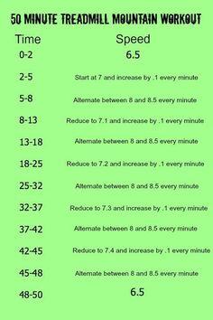 50 min treadmill mountain workout