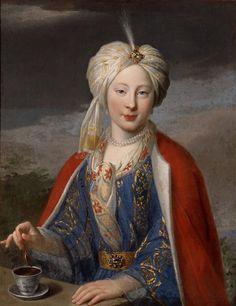 Portrait de femme vêtue à l'orientale by Van Loo Jean Baptiste (1684-1745) (attribué à), credit: (C) Ville de Marseille, Dist. RMN-Grand Palais /Jean Bernard, Réunion des Musées Nationaux-Grand Palais