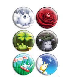 Puddle Bunnies Button Set 1