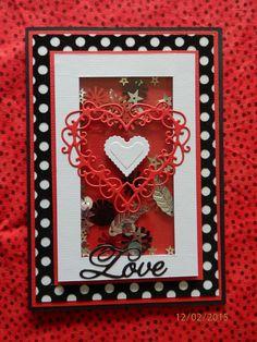 Be my Valentine, shaker card