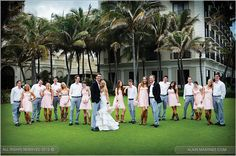 love how bridesmaids and groomsmen are paired off