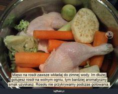 Jak ugotować rosół? - Mięso na rosół zawsze wkładaj do zimnej wody. Im dłużej…