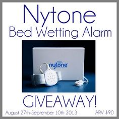 Nytone bed wetting alarm giveaway. $89.99 value. Ends 9/10/13.
