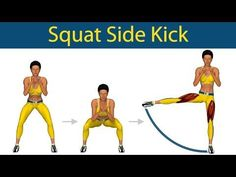 Perfect Legs Series: Squat side kick - YouTube