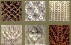 çeşitli örgü modelleri motifler