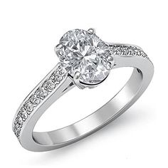$6,449  -  * GIA CERTIFIED * 1.95 CARATS OVAL CUT DIAMOND SOLITAIRE ENGAGEMENT RING ON 14K SOLID WHITE GOLD F 26 D http://www.amazon.com/dp/B00M4DL5BO/ref=cm_sw_r_pi_dp_kEOyub1E0SRMM