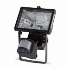 Mistral Mains IP44 Cast Alu Floodlight with PIR Halogen 78mm 150W R7s Black JCC Lighting JC45021BLK