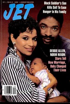 Jet magazine cover- october 1984 with husband norm, daughter vivian