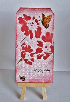 Mixed Media Flowers Tag - Scrapbook.com