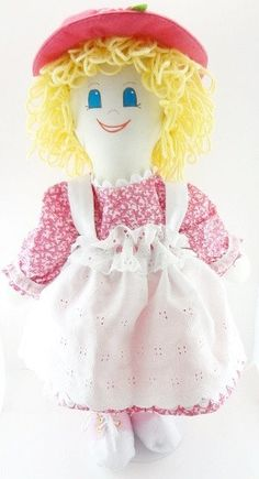 "I am an 18 inch handmade cloth rag doll. I have a soft body and I am huggable, lovable, and wonderful. I have creamy blond curls, blue eyes, and an adorable smile... Im really, really cute and fun...  This is a My New Friend rag doll that is hale and hearty and expects to go where your child goes and do what your child does. If you hug the doll she will hug you back, cloth dolls do that. She is about 18""-20"" tall and other than scissors, she has no natural enemies. She will play all day and…"
