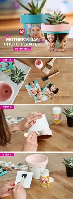 Make mom smile with a modern take on a timeless tradition. Create this easy DIY photo planter for Mother's Day. The perfect gift for Mom, Grandma, and all the special mothers in your life.