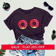 Donut tshirt for women - Funny TShirts - Womens Graphic t-Shirts - Teens Girls printed TShirt - tumblr tshirts - celebrity tshirt ladies by thecozyapparel