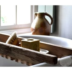 Salvaged Wood -Cottage Chic -Bath Decor (520 ILS) ❤ liked on Polyvore featuring home, home decor, outside home decor, handmade home decor, music home decor, cottage home decor and reclaimed wood tray