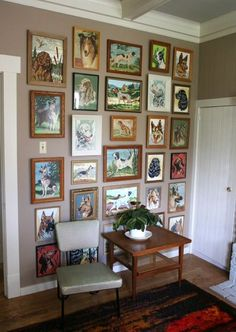 This is what my upstairs hallway is going to look like!!  Vintage Paint By Number Paintings | paint by number paintings vintage