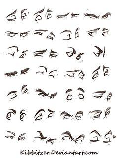 Eyes Reference Sheet by Kibbitzer on DeviantArt