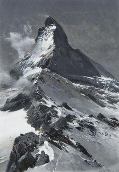 Edward Theodore Compton (1849-1921) The Matterhorn.