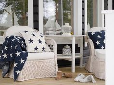 Photo: Markku Alatalo Coastal Style, Coastal Living, Beach Items, Outside Furniture, Ahoy Matey, House By The Sea, Textiles, Cottage Style Homes, Co Design