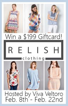 Relish Clothing is an online boutique with fashionable clothing and mystery boxes for the adventurous shopper! A review of The Relish Box, plus a giveaway!