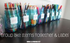 Group Like Items Together + Label via Clean Mama