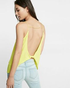 open twist back cami