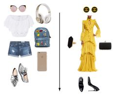 """""""Blahhh"""" by aliza-ahmed on Polyvore featuring Miguelina, AG Adriano Goldschmied, Loeffler Randall, Agent 18, Beats by Dr. Dre, Fendi, Roberto Cavalli, Jaeger and Chanel"""