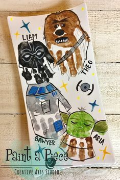 Star Wars Hand Print art created by PYOP pottery painting studio Paint a Piece in Memphis, TN. Star Wars Hand Print art created by PYOP pottery painting studio Paint a Piece in Memphis, TN. Toddler Art, Toddler Crafts, Crafts For Kids, Diy Father's Day Gifts, Father's Day Diy, Creative Arts Studio, Star Wars Painting, Star Wars Crafts, Fathers Day Crafts