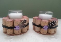 Wine Cork Candle Holders                                                       …