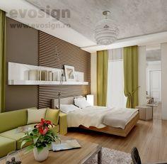 Amenajare Dormitor + Living Living, House Design, Interiors, Interior Design, Bedroom, Furniture, Home Decor, Nest Design, Decoration Home