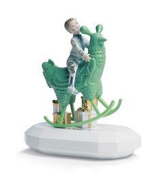 Lladro Figurative Sculpture - The Rocking Chicken Ride Figurine Jaime Hayon Spanish Modern Porcelain Impression 3d, Jamie Hayon, Spanish Modern, Galo, Luminaire Design, Chinese Antiques, Ceramic Art, Decorative Objects, Decoration