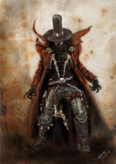 Gunslinger Spawn- the most attractive fictional character ever!! Jacket, cowboy boots, hat...yup.